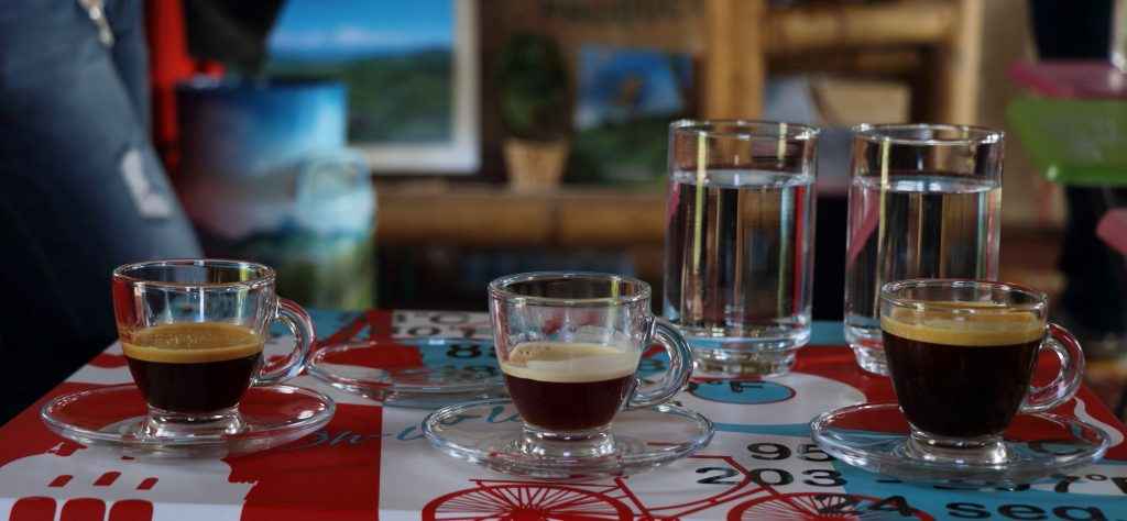 Colombian Coffee tasting